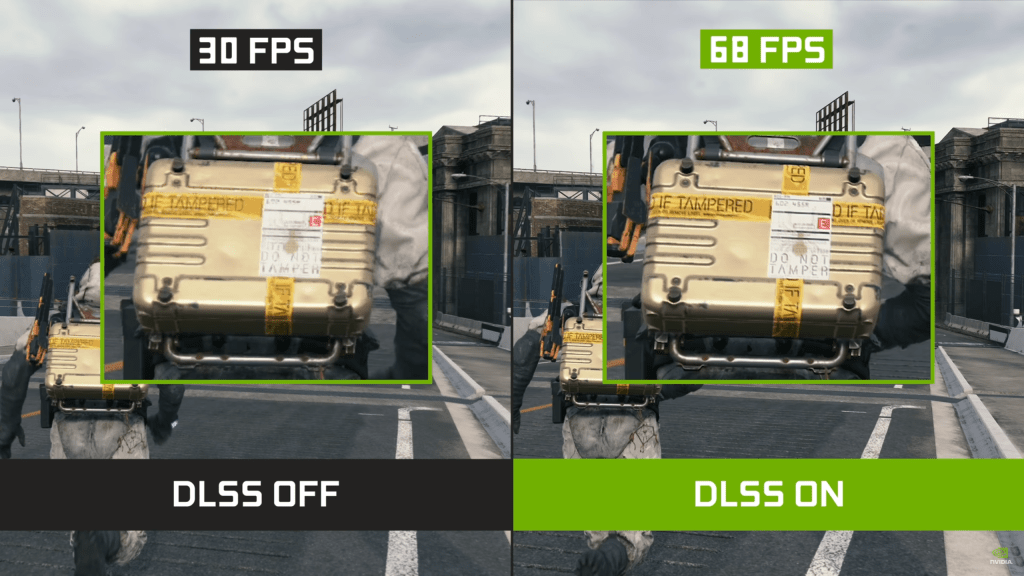DLSS helps to lighten the load on your graphics card, resulting in a sharp increase in FPS when enabled.