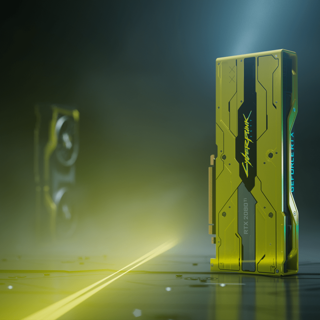 Special edition Cyberpunk 2077 RTX 2080 Ti graphics card.