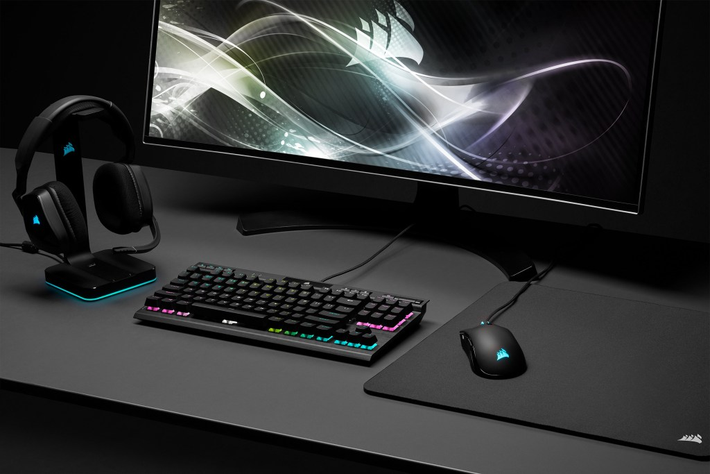 Complete your gaming setup with other CORSAIR gaming peripherals such as the VOID Elite headset and K70 RGB TKL Mechanical Gaming Keyboard
